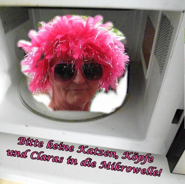 Und das sollte nie nicht niemals wer machen: Einen Lockenkopf in die Mikrowelle stecken!