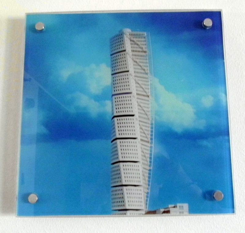 1008 Glasbild Turning Torso 987